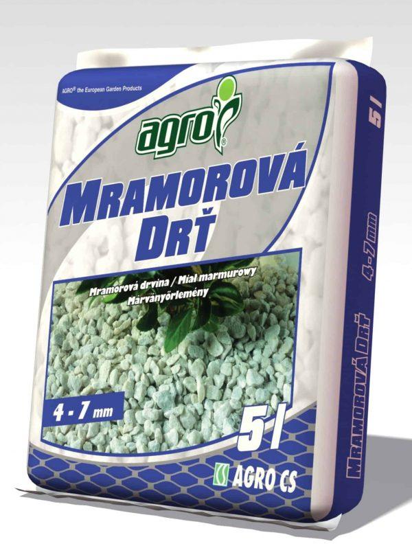 AGRO Mramorová drť 5l ( 4-7 mm )