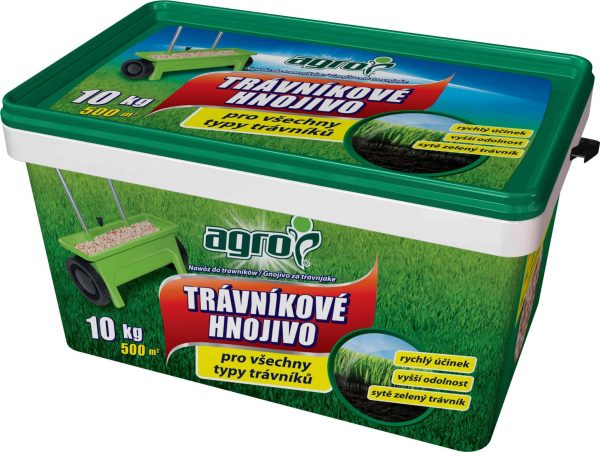 AGRO Trávnikové hnojivo 10kg plastové vedro