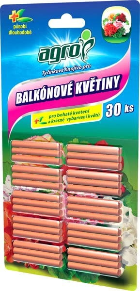 AGRO Tyčinkové hnojivo na balkónové rastliny 30ks