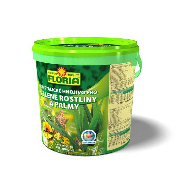 FLORIA Kryštalické hnojivo na zelené rastliny a palmy 800g