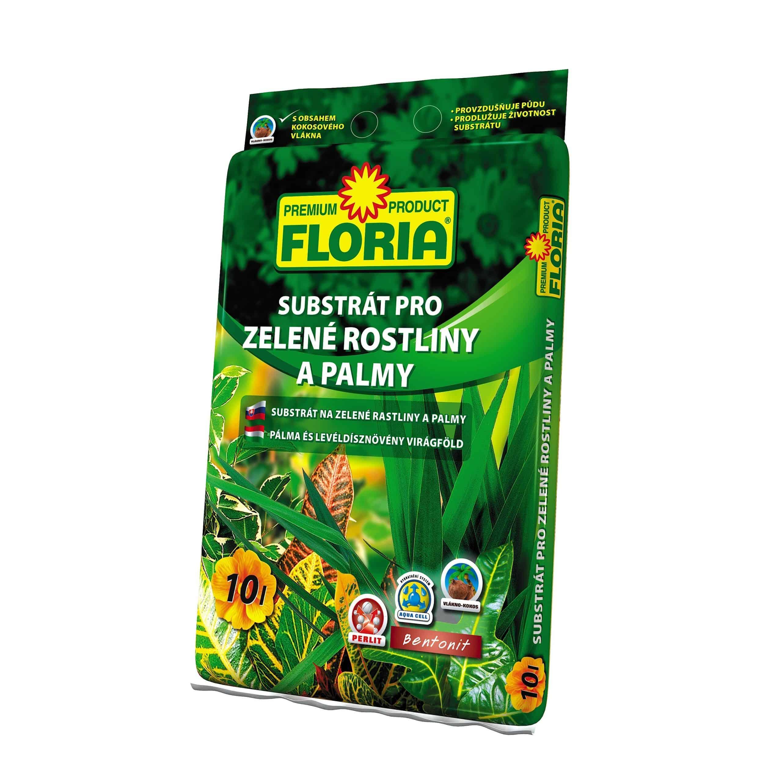 FLORIA Substrát na zelené rastliny a palmy 10l