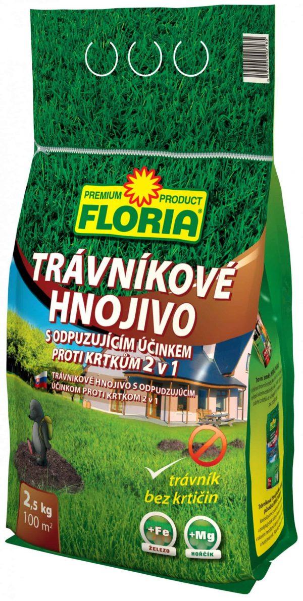 FLORIA Trávnikové hnojivo s odpudzujúcim účinkom proti krtom 2500g