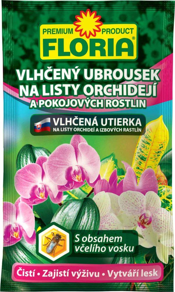 FLORIA Vlhčená utierka na listy Orchideí a izbových rastlín 6g