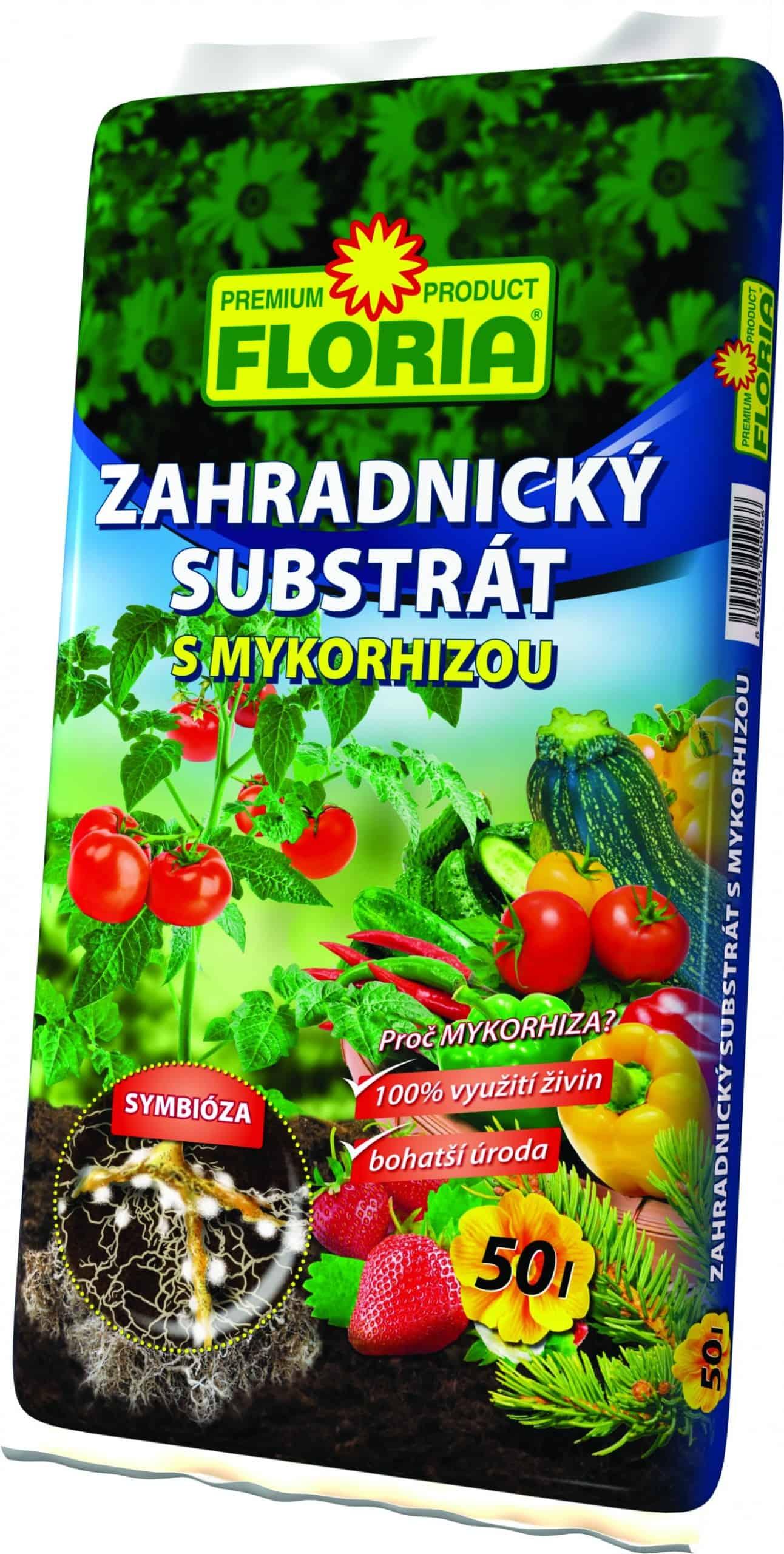 FLORIA Záhradnícky substrát s mykorhizou 50l