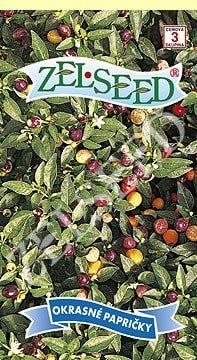 Okrasné papričky guľaté 0,3g Zelseed