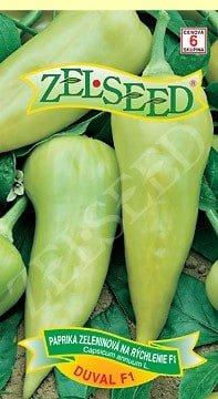 Paprika zeleninová sladká na rýchlenie Duval F1  20s Zelseed