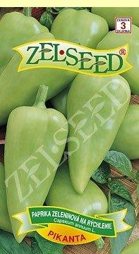 Paprika zeleninová stredne skorá na rýchlenie Pikanta 0,7g Zelseed