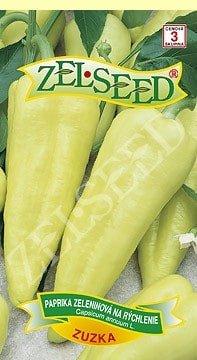 Paprika zeleninová stredne skorá na rýchlenie Zuzka 0,7g Zelseed
