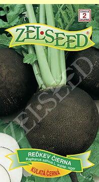 Reďkev čierna Kulatá černá 3g Zelseed