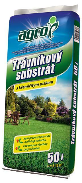 AGRO Trávnikový substrát 50l