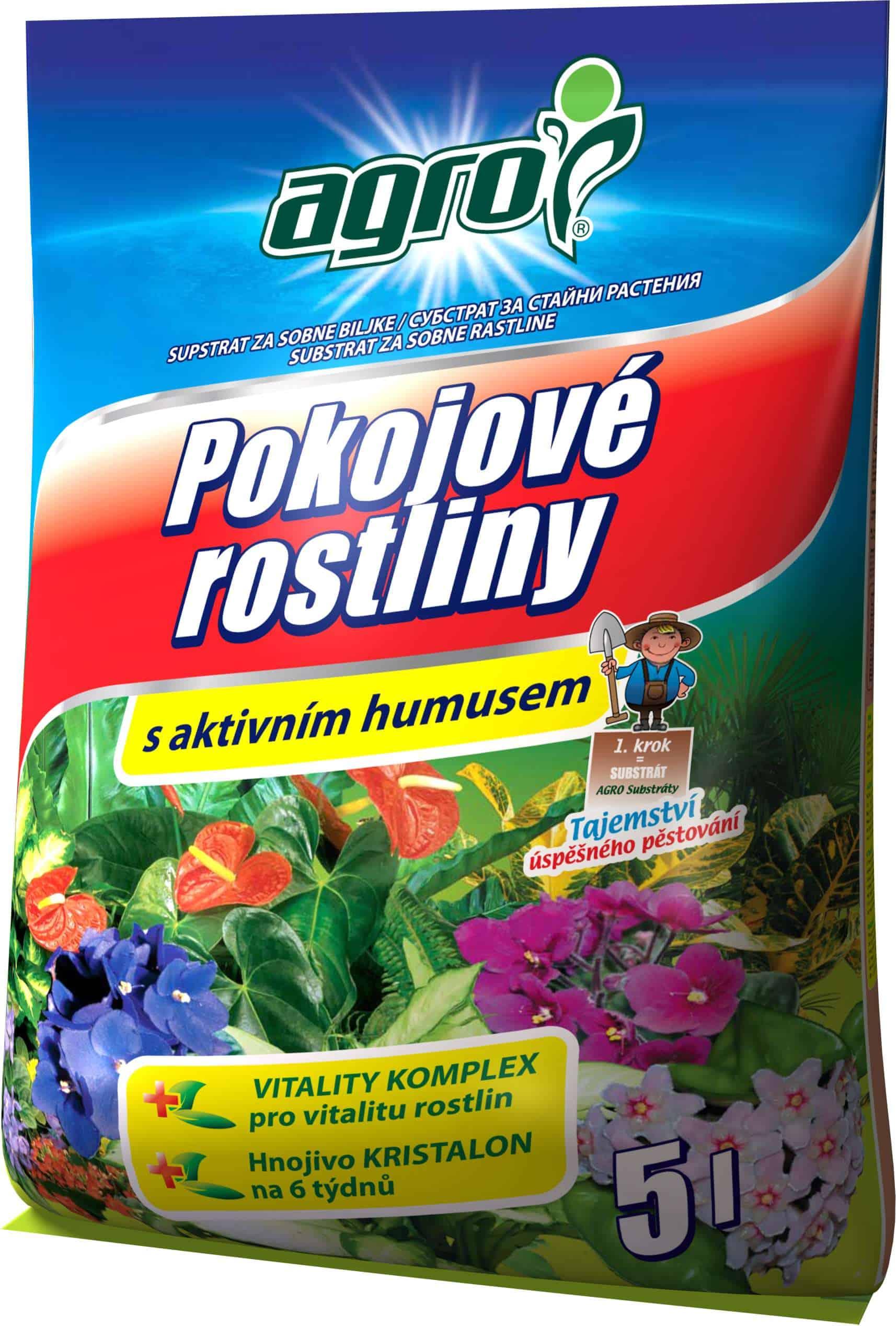 AGRO Substrát pre izbové rastliny 5l