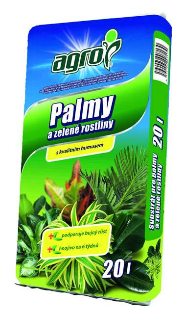 AGRO Substrát pre palmy a zelené rastliny 20l