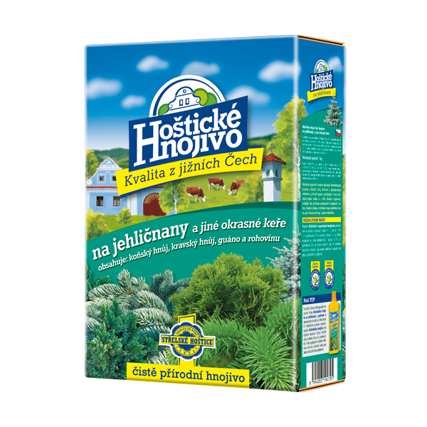 Hoštické hnojivo na ihličnany a iné okrasné dreviny 1kg