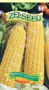 Kukurica cukrová MOVADO F1 poloneskorá 28g Zelseed