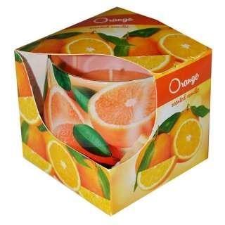 Sviečka v skle 100g voňavá pomaranč